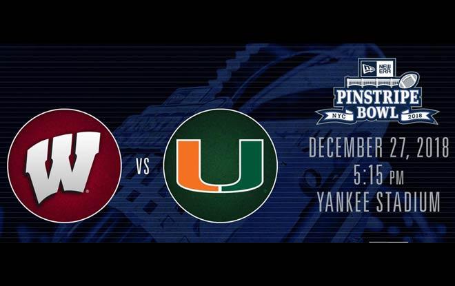 Miami Hurricanes vs. Wisconsin Badgers - New EraPinstripe Bowl Betting Predictions