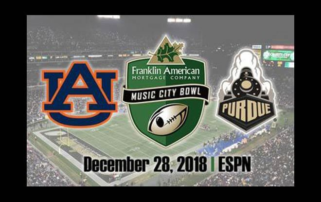 Purdue Boilermakers vs. Auburn Tigers Music City Bowl betting