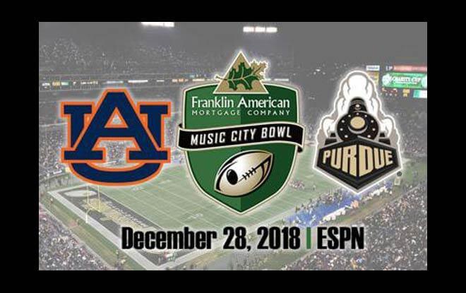 Purdue Boilermakers vs. Auburn Tigers Music City Bowl betting
