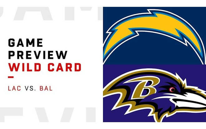 Los Angeles Chargers at Baltimore Ravens - 2019 NFL Wild Card Playoffs Betting