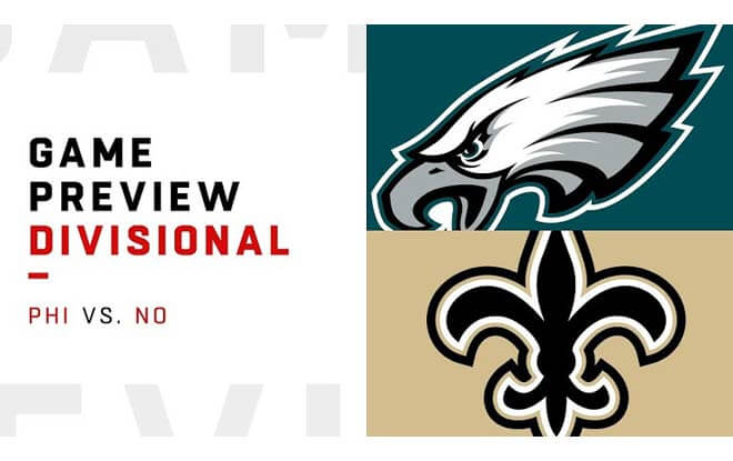 Philadelphia Eagles at New Orleans Saints - NFC Divisional Playoffs Betting Odds and Picks