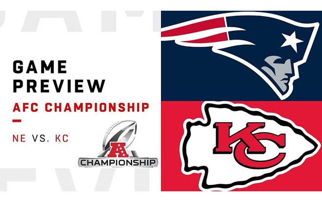 New England Patriots at Kansas City Chiefs - NFL Conference Game Betting Odds and Picks