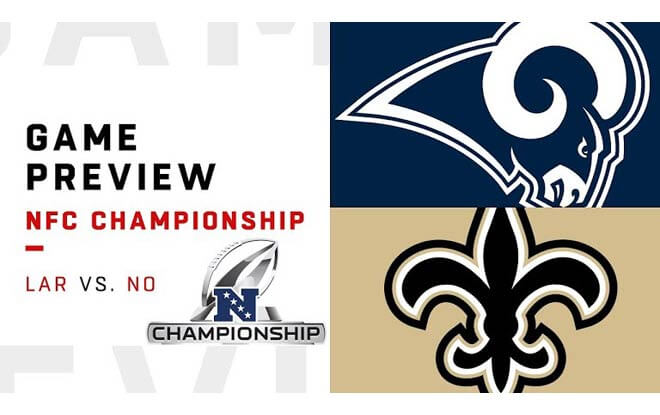 Los Angeles Rams at New Orleans Saints - NFL Conference Championship Betting Odds and Picks