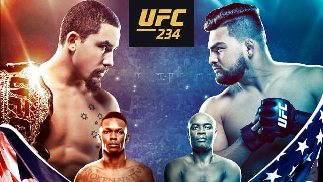 UFC 234 Whittaker vs. Gastelum Main Card Betting Odds