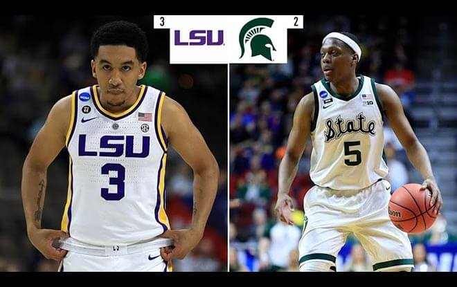 Michigan State Spartans vs. LSU Tigers Sweet 16 Betting Odds