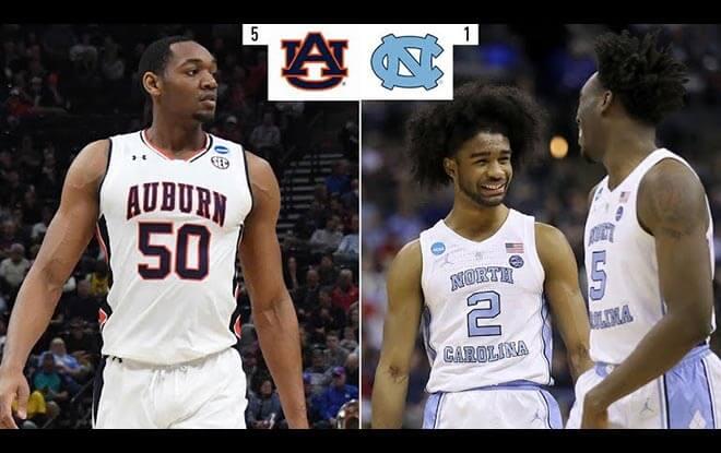 North Carolina Tar Heels vs. Auburn Tigers NCAA Basketball Betting Odds and Picks