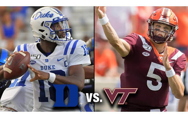 Duke Blue Devils at Virginia Tech Hokies College Football Betting Odds and Picks