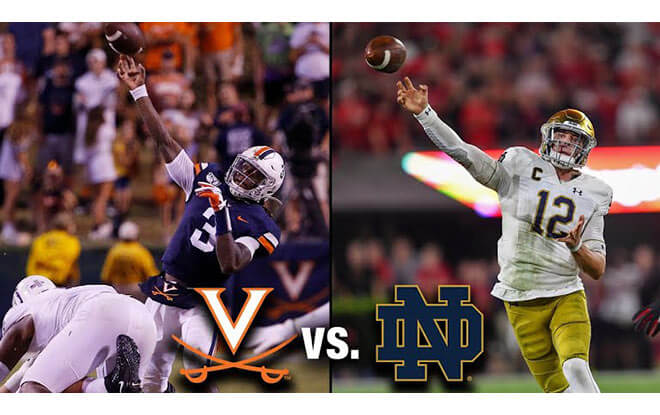 Virginia Cavaliers vs. Notre Dame Fighting Irish College Football Betting Odds and Picks