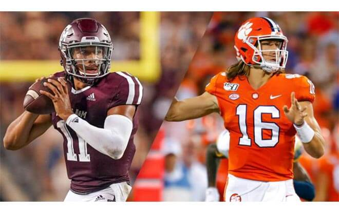 #1 Clemson Tigers vs. #12 Texas A&M Aggies NCAA Football Betting Odds and Predictions