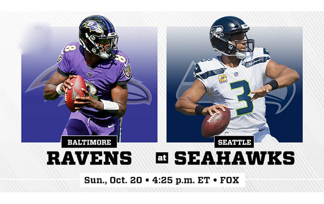 Seahawks vs. Ravens NFL Week 7 Reduced Juice Betting