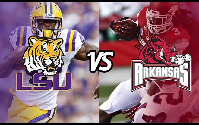 Arkansas Razorbacks vs. LSU Tigers College Football Betting odds, Picks
