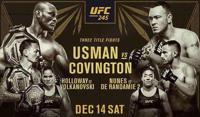 UFC 245 Main Card Best Betting Fight Odds & Picks