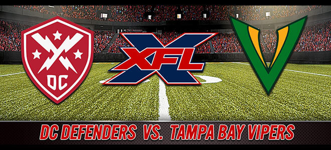 DC Defenders vs. Tampa Bay Vipers XFL Betting Odds and Picks