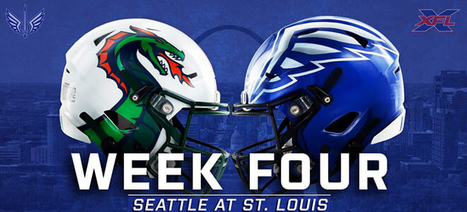 Seattle Dragons vs. St. Louis BattleHawks XFL Week 4 Odds and betting predictions