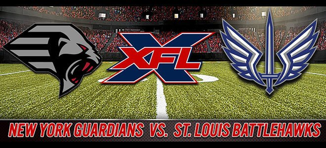 New York Guardians vs. St. Louis BattleHawks Betting XFL Odds & Picks