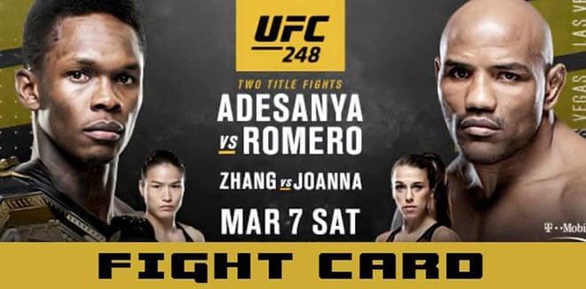UFC 248: Adesanya vs. Romero Betting