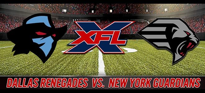 XFL Betting New York Guardians vs. Dallas Renegades Odds and Picks