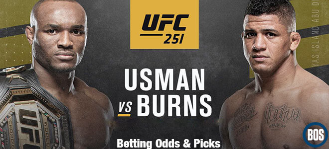 UFC 251 Kamaru Usman vs. Gilbert Burns Betting Predictions and odds