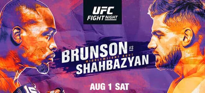 UFC Fight Night: Brunson vs. Shahbazyan Main Card Odds
