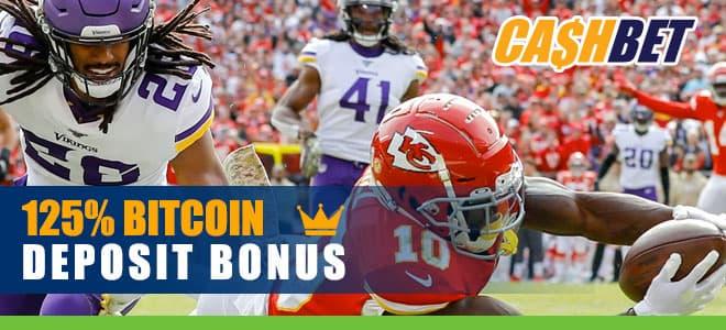 125% Bonus at CashBet Sportsbook