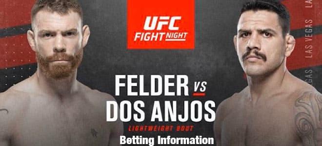 Rafael Dos Anjos vs. Paul Felder Lightweight Bout UFC Betting
