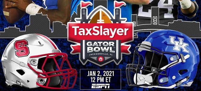 2021 Gator Bowl Betting: NC State vs. Kentucky Odds and Picks