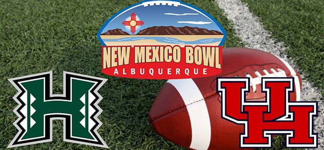 Hawaii Rainbow Warriors vs. Houston Cougars - 2020 New Mexico Bowl Odds and Picks