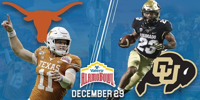 2020 Alamo Bowl: Texas Longhorns vs. Colorado Buffaloes betting odds and picks