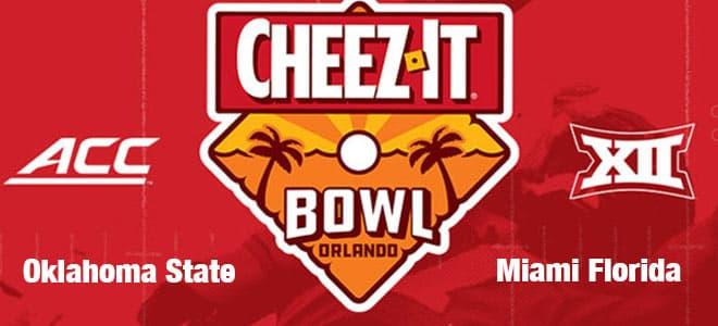 2020 Cheez-It Bowl Betting Oklahoma State vs. Miami Florida