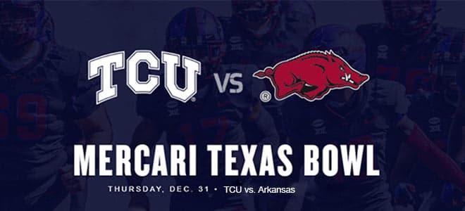 TCU Horned Frogs vs. Arkansas Razorbacks - 2020 Texas Bowl Betting Odds and Picks