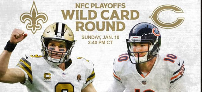 NFL Wild Card: Chicago Bears vs. New Orleans Saints betting odds and picks