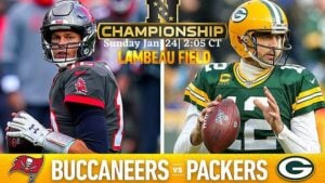 NFL Conference Championship Betting: Buccaneers vs. Packers Spread, Trends, Picks and Predictions