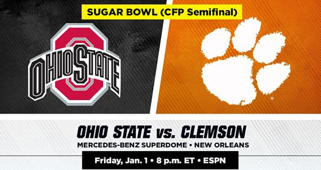 Ohio State vs. Clemson CFP SemiFinal - Sugar Bowl Betting Odds, Picks and Predictions