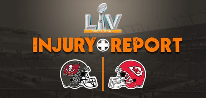 Super Bowl LV Injuries to Watch - Report by BetUs Sportsbook