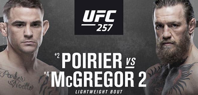 UFC 257 Main Card Betting Odds