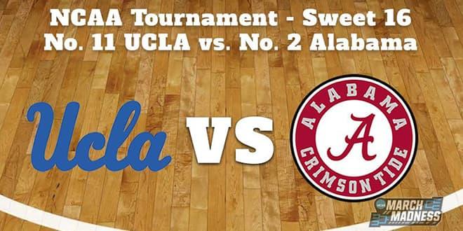 UCLA Bruins vs. Alabama Crimson Tide Sweet Sixteen Updated Odds and Picks