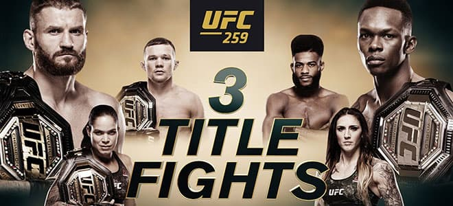 UFC 259 Main Card Betting Odds And Picks