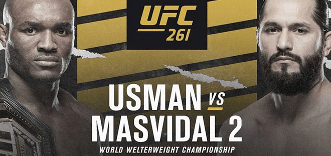 Kamaru Usman vs. Jorge Masvidal Betting Odds & UFC 261 Pick (April 24, 2021)
